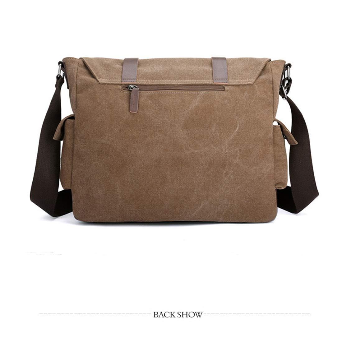 Male Postman Bag Single Shoulder European and American Ancient Canvas Color : Brown Multi-Purpose Function Canvas Bag Male Bag KRPENRIO Canvas Traveling Bag