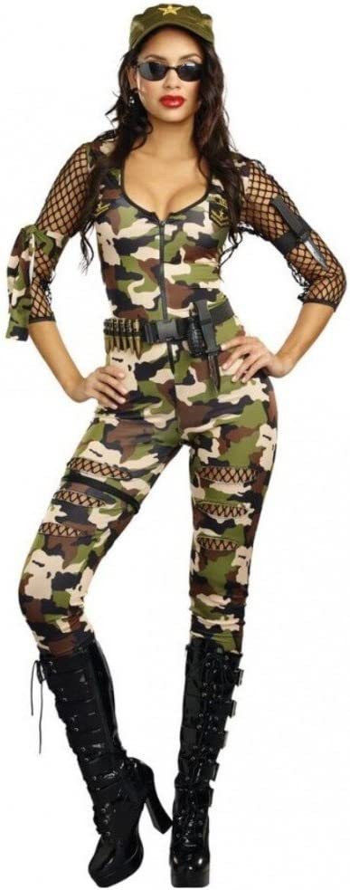 DreamGirl Disfraz Ejército Chica Cathy S, M, L Mono Camuflaje ...