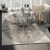ABANI Oval Pattern Modern Design Large Area Rug – 8×10, 100% Polypropylene, Turkish, Machine Made, Ivory & Black, Eden Collection (EDN110B-8) For Sale