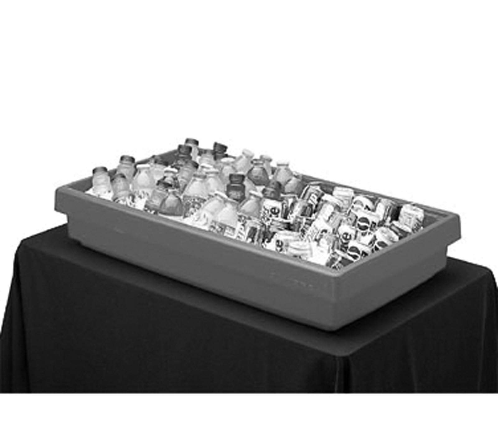 Cambro BUF72110 Black 5-Pan 6' Tabletop Buffet Bar