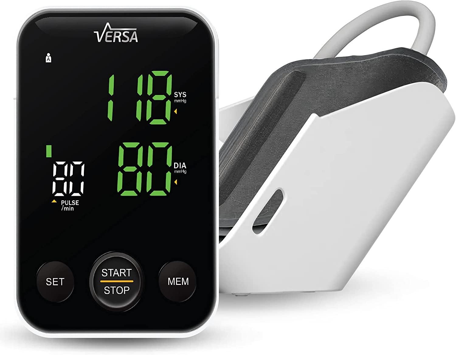 Care Touch Versa Blood Pressure Monitor, Upper Arm BP Monitor with Storage and Blood Pressure Cuff - Digital Blood Pressure Machine for Home and Professional Use
