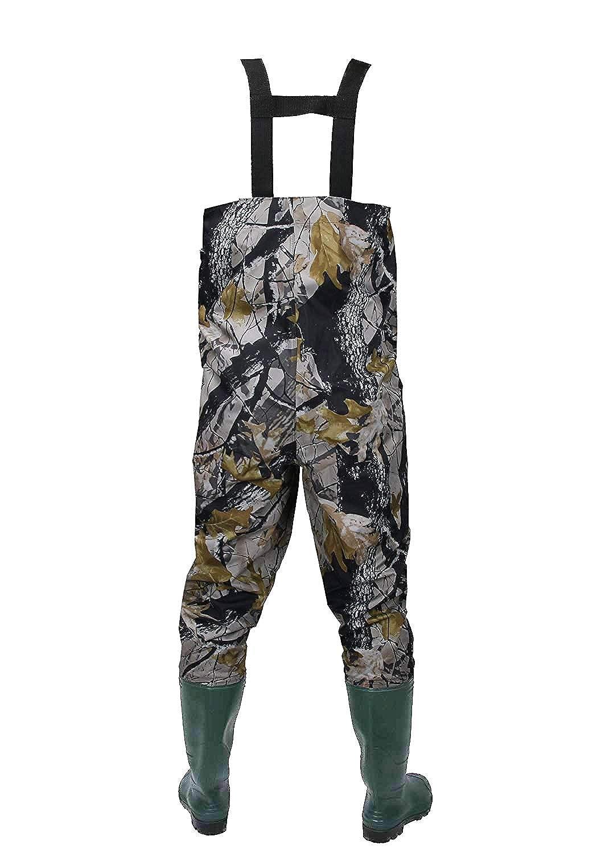 Men/&Women Nylon//PVC Fishing Hunting Waterproof Chest Waders Suspenders Jumpsuits