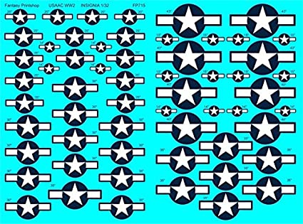 Amazon com: US Army Air Corps WW2 Aircraft Insignia (1/32 decals