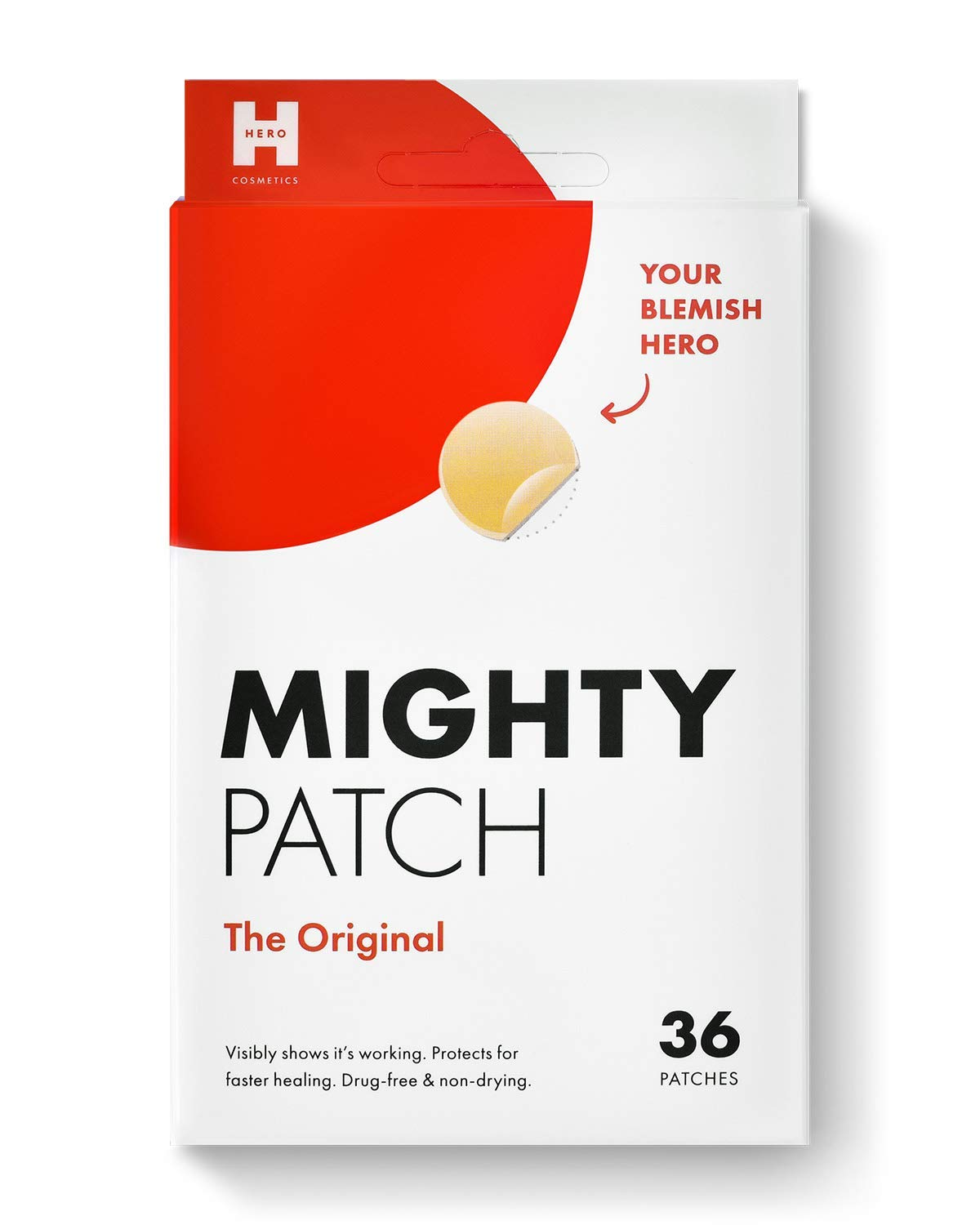 Mighty Patch Original - Hydrocolloid Acne Pimple Patch Spot Treatment (36 count) for Face, Vegan, Cruelty-Free…