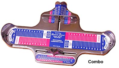 Brannock Pedimtre hommes/femmes professionnel (tailles USA) Combination Device uhSvL
