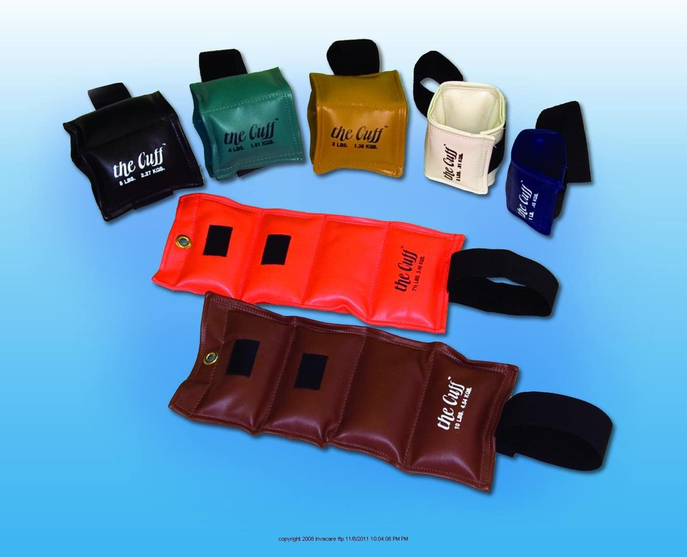 The Cuff Wrist Ankle Weights, Wrist Ankle Weight 3Lb, 1 EACH, 1 EACH