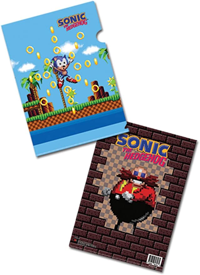 Amazon Com Sonic The Hedgehog Ooops File Folder Colored File Folders Office Products