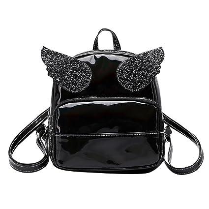 Inkach Womens Backpack Purse ❤ Fashion Squins Mini Leather School Bags  Rucksack Trave Shoulder Bag e139612a2966