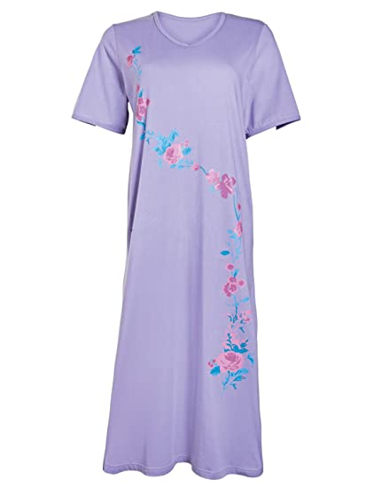 5d6166e084 Ladies Nighties Pack of 2 Cotton Nightdresses  Amazon.co.uk  Clothing