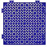 American Floor Mats PVC Safety Shower Lab Tile Blue 20 Pack - 4' x 5' area