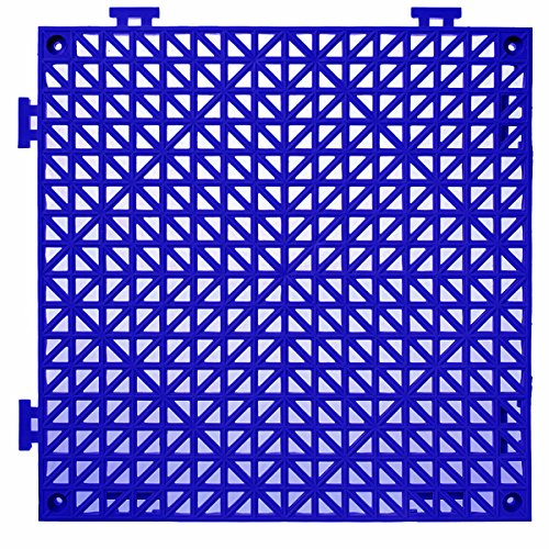 American Floor Mats PVC Safety Shower Lab Tile Blue 4 Pack - 2' x 2' area