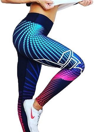7da7f74b5f8e9 Image Unavailable. Image not available for. Color: Clothdigger Trendy Color  Block Spots Print Yoga Leggings ...
