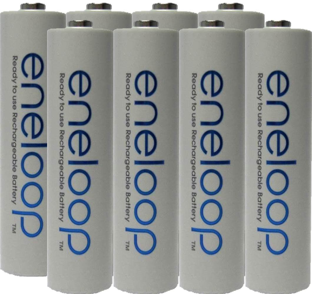 Eneloop AAA 4th generation NiMH Pre-Charged Rechargeable 2100 Cycles Battery with Holder Pack of 8