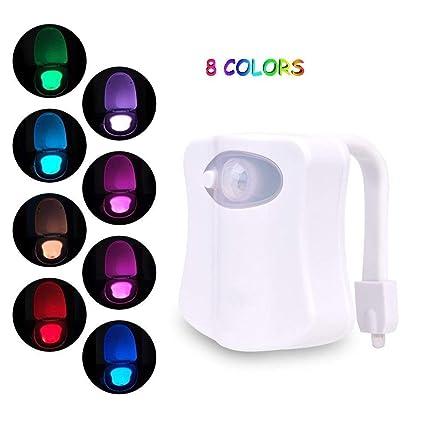 YKS-PA - Lámpara LED para Inodoro con Sensor de Movimiento, Funciona con Pilas