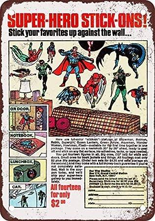 1972 Super Hero Muro - Cartel de Metal (20, 3 x 30, 5 cm ...