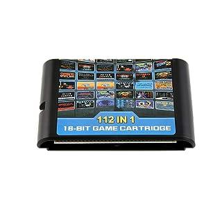 BlackPJenny 112 in Una Cartuccia di Gioco Cartuccia Portatile per Retroad Sega Genesis