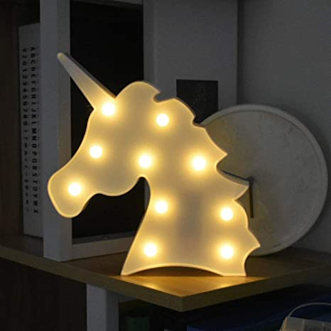 LED Unicornio Luces Nocturnas, LED Mood Light Lámparas de ...