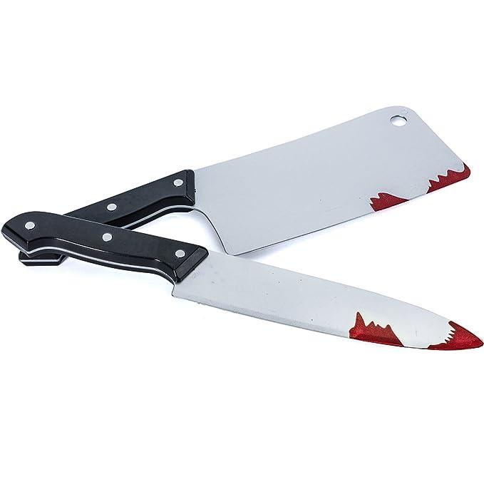 Amazon.com: Tigerdoe - Cuchillo falso, 2 unidades, cuchillo ...