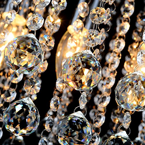 ZEEFO Crystal Chandeliers Light, Mini Style Modern Décor Flush Mount Fixture With Crystal Ceiling Lamp For Hallway, Bar, Kitchen, Dining Room, Kids Room (8 inch) by ZEEFO (Image #3)