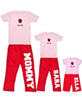 Personalized Mother Daughter Tee and Pant Outfits Lady Bug, Little Bug or Baby Bug