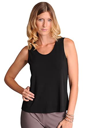 5c742e27c6ff Eileen Fisher Stretch Silk Jersey Scoop Neck Tank at Amazon Women s  Clothing store