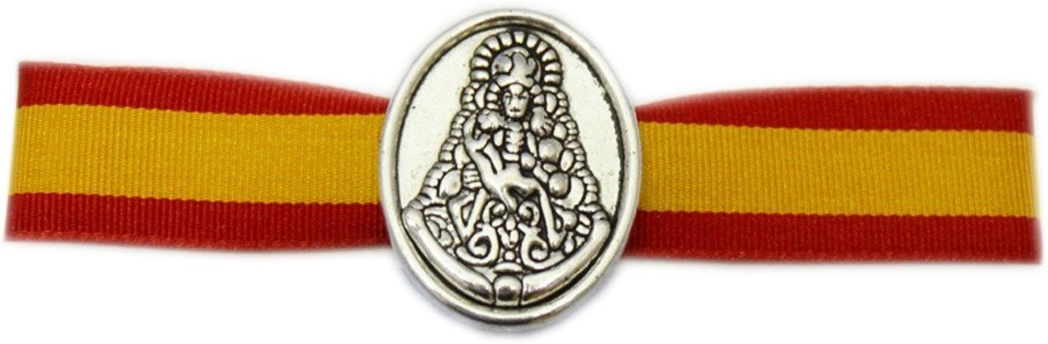 ALBERO Pulsera Virgen del Rocio Tela Y ZAMACK ESPAÑA- 29 X 1,50 cm: Amazon.es: Joyería