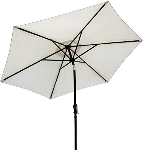 Sun-Ray 9 Solar Lighted Patio Umbrella