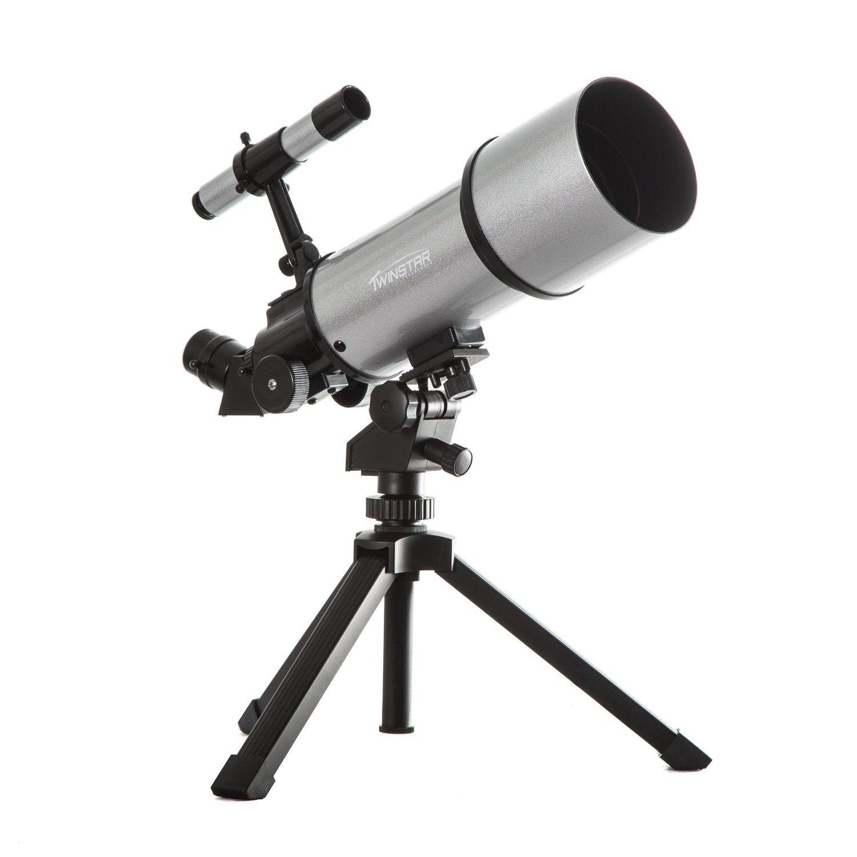 AstroVenture Portable 80mm Refractor Telescope With Universal Smartphone Camera Adapter
