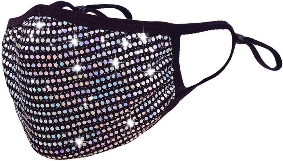 jfhrfged Protección de Las Mujeres Reutilizable a Prueba de Polvo Cristales de Diamantes de imitación de Disfraces de Halloween Material de Mezcla de algodón (Multicolor)