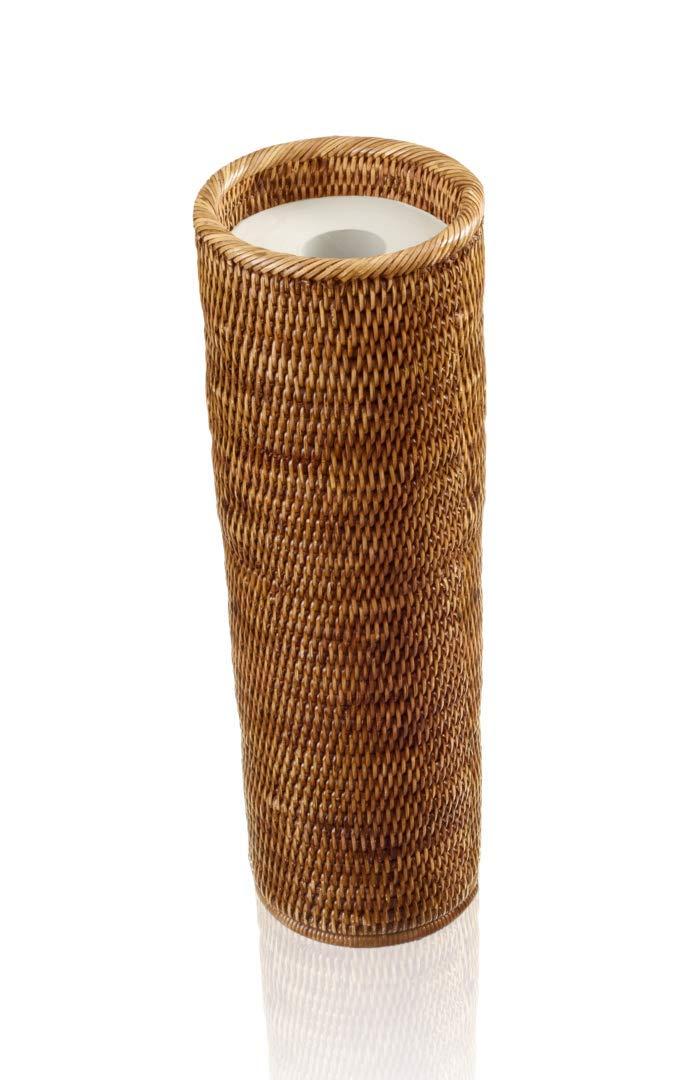 Decor Walther Basket Erh Spare Roll Holder Rattan Dark D Home Kitchen Laundry Storage Organisation