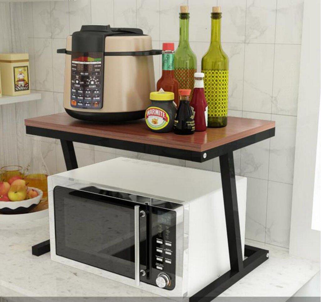 Kitchen Shelf Microwave Oven Rack, Kitchen Metal Storage Rack, Modern Multi-Function Rack (Upgrade 57 x 38 x 38 cm) Kitchen Storage Racks (Color : F)