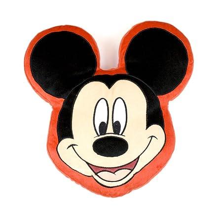 Disney Character World Mickey Mouse Head Shaped Plush Cushion