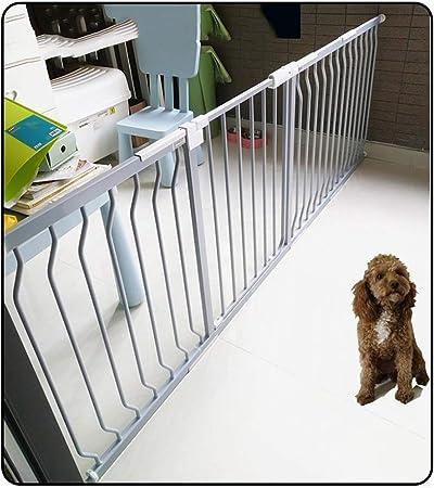 QIANDA Barrera de Seguridad Bebé Puerta de la Escalera Extra Ancho con Automáticamente Cerca Puerta La Seguridad, 72-78cm Extensible A 288cm (Gris-Plata) (Size : 149~155cm): Amazon.es: Hogar