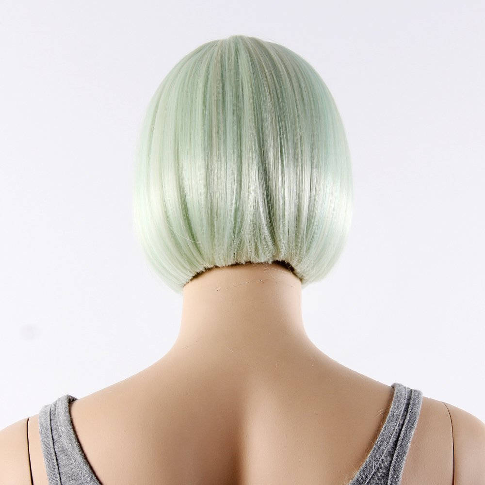Amazon.com: STfantasy Light Green Bob Display Female Mannequin Wigs Long Straight Synthetic Hair Blunt Bang Peluca 12 Inch 130g: Arts, Crafts & Sewing