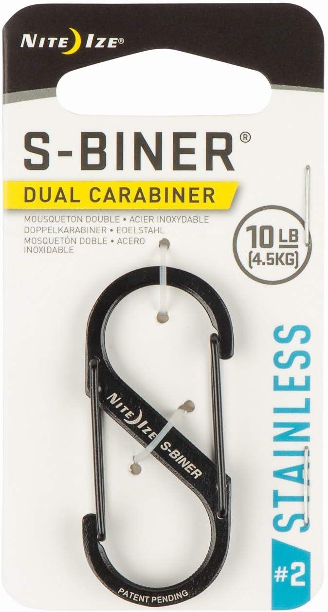 2 Stück Nite Ize S-Biner Taglock Aluminium-Biner