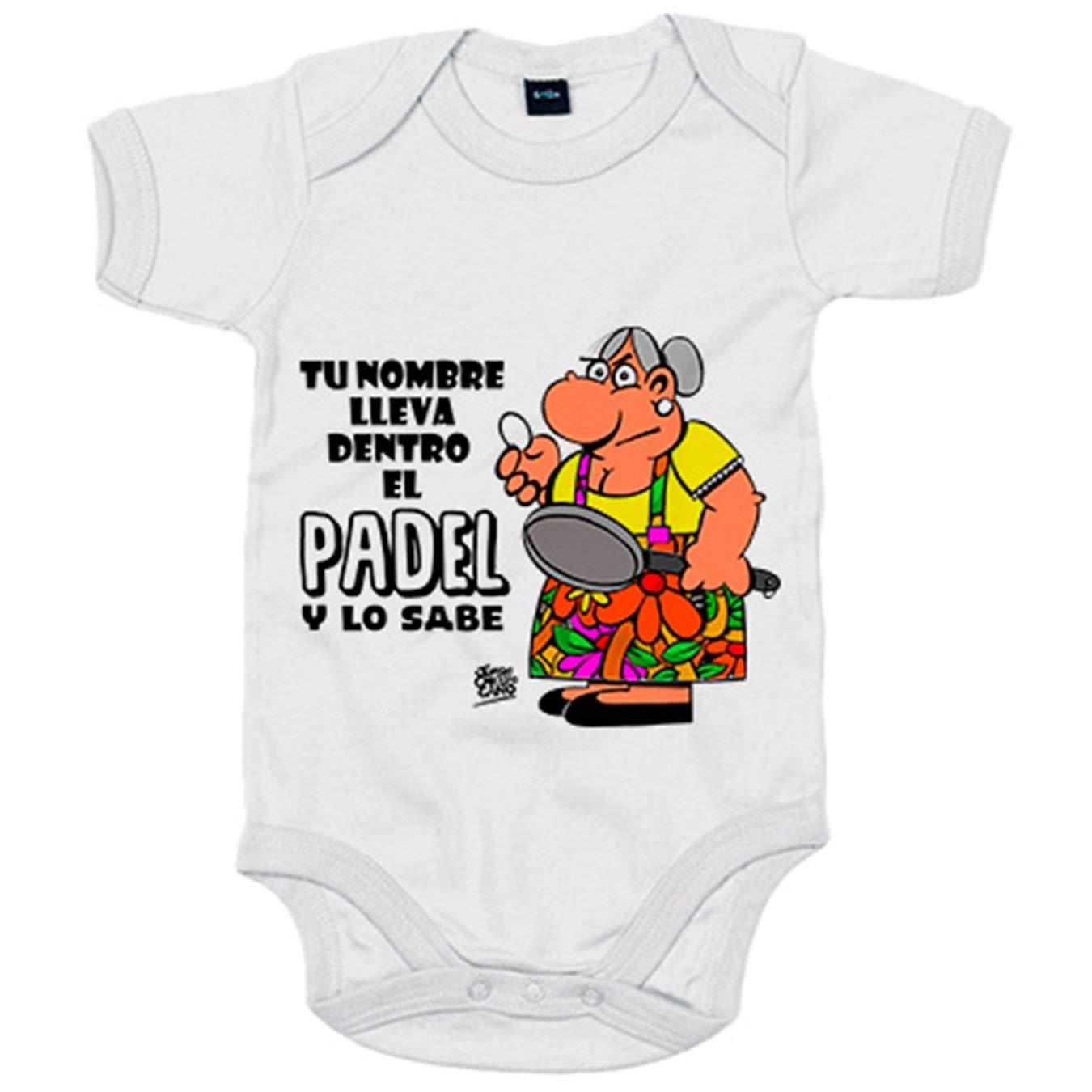 Body bebé llevas dentro el Padel y lo sabes personalizable con ...