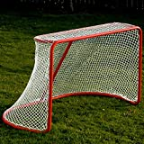 Hockey Goal & Net, 72'' Pro-Style Rounded Back, Heavy-Duty Steel Goal & Hockey Netting, Complete!