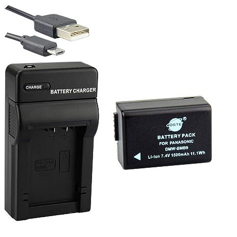 DSTE DMW-BMB9 Li-ion Batería Traje y cargador micro USB para Panasonic Lumix DMC-FZ40 DMC-FZ45 DMC-FZ47 DMC-FZ48 DMC-FZ60 DMC-FZ62 DMC-FZ70 DMC-FZ72 ...