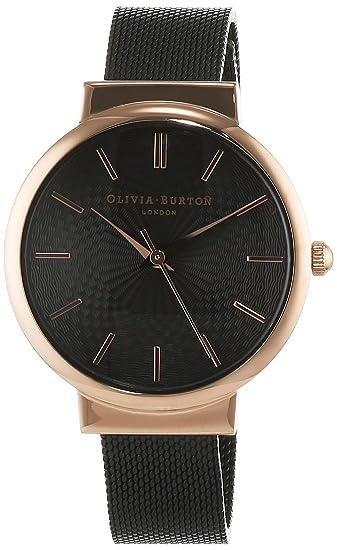 Olivia Burton Reloj Analógico para Mujer de Cuarzo con Correa en Acero Inoxidable OB15TH19
