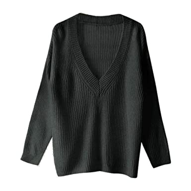 9cb0d55196bad Amazon.com: VonVonCo Pullover Sweaters for Women, Women Solid Long ...