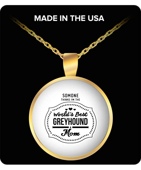 Amazon com : World's Best Greyhound Mom Funny Pendant