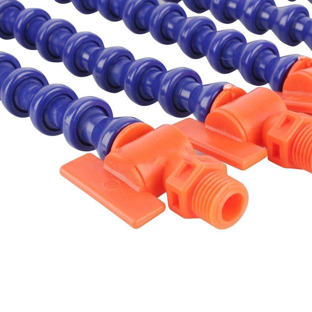Universal Plástico Boquilla redonda 1//4 Tubo Flexible Tubería Refrigerante de Aceite Sin Interruptor