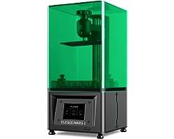 ELEGOO Mars 2 3D Printer, MSLA UV Photocuring LCD 3D Printer, Front USB Port, 2K Monochrome LCD Screen, UV LED Light Source,