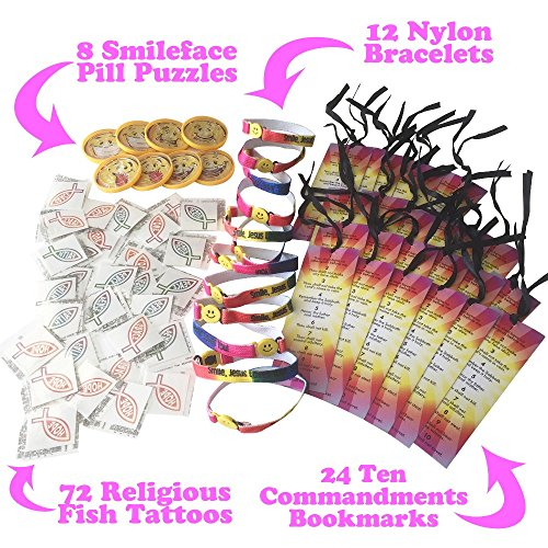 260-Piece Kids Christian Religious Party Favor Toy Supplies For Sunday School Gifts With Bulk