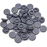 SUCOHANS 100 peices Self Healing Rubber Injection Ports,13mm Rubber Bottle Stoppers,For Sealing 1/4 inch or 7mm opening…