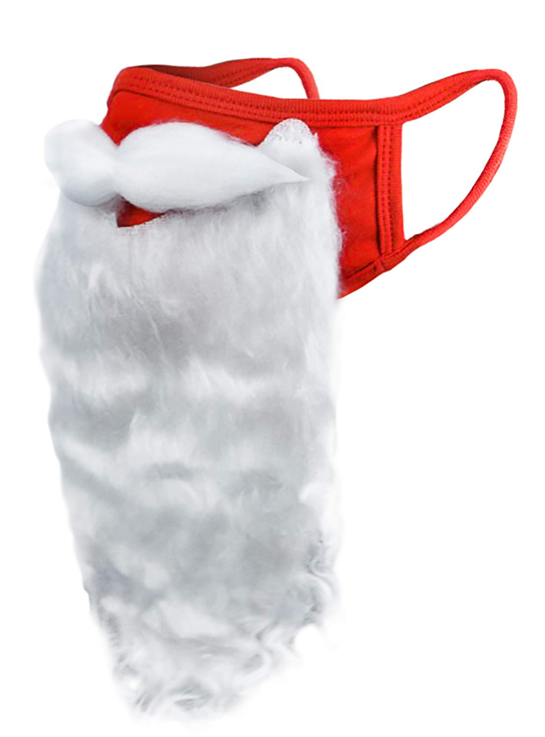 Encased Face Mask Funny Bearded Holiday Santa Costume for Adults for Christmas 2020 (One size fits all)