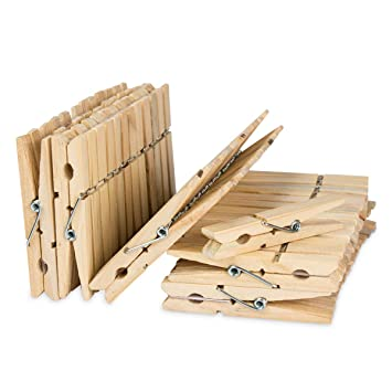 Dealfin 50 Holz Wäscheklammernholz Klammern 75cm Groß Für