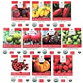 Heirloom Tomato Seeds Assortment Ten Organic And Non Gmo Varieties Brandywine Cherokee Purple Black Krim Green Zebra Amish Paste Yellow Brandywine Matt S Wild Cherry Yellow Pear San Marzano