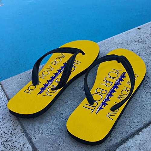 Row Boat Flip Crew Row Your Row Yellow Crew Flops Flip PX84Fq