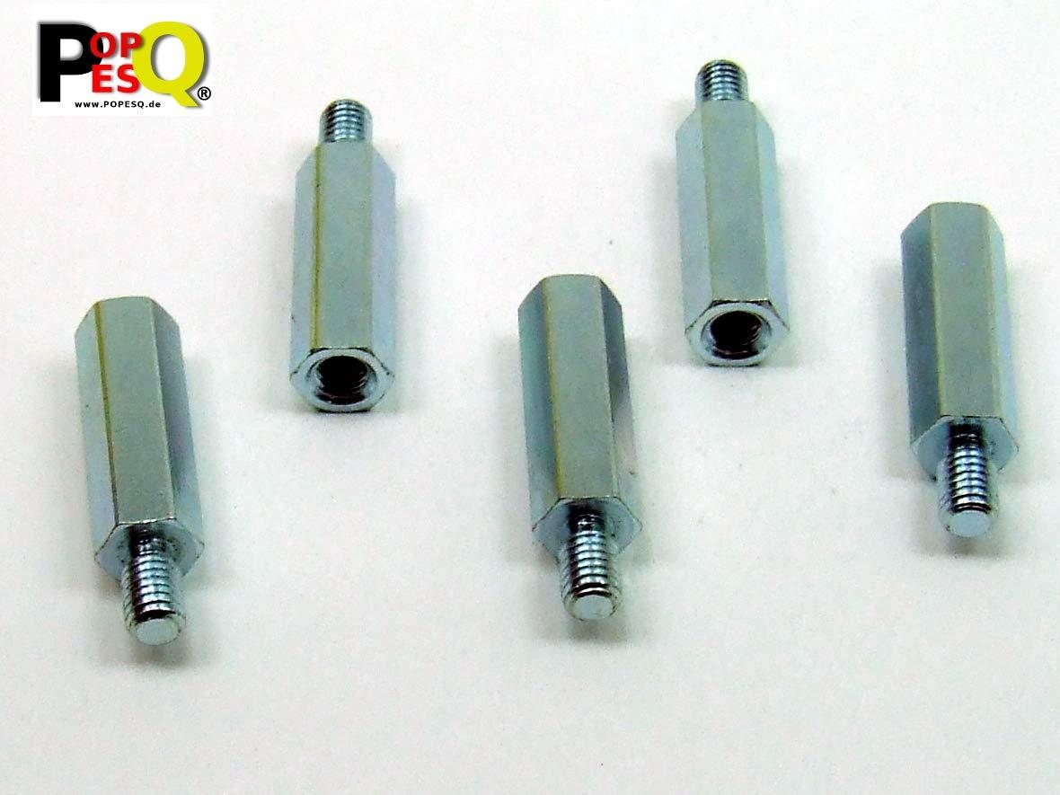 5 pcs x Standoff M3 15mm IG-AG Steel Zinc #A2344 POPESQ/® 5 Stk x Abstand M3 15mm IG-AG Stahl Zink